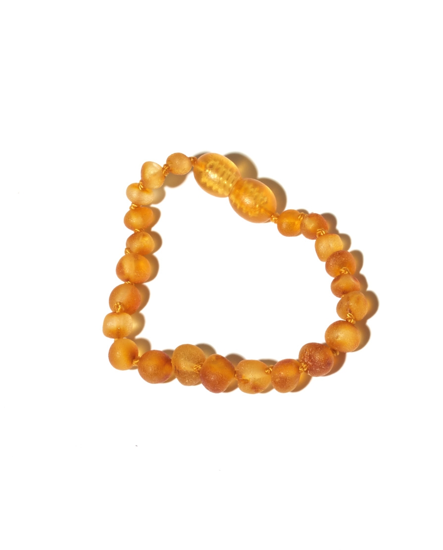 bracelet bébé raw honey ambre baltique Nirrimis Manipani