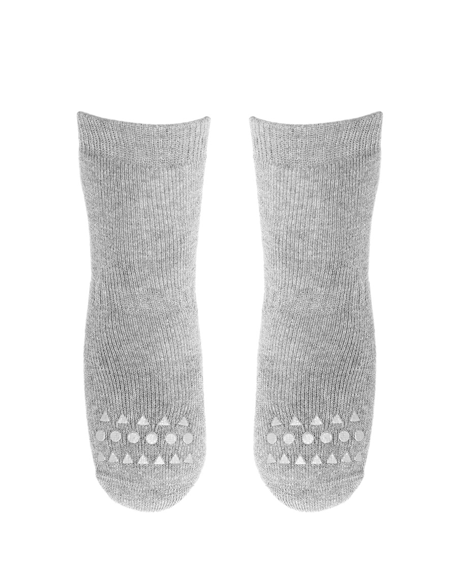 Chaussettes antidérapantes GoBabyGo | Gris clair