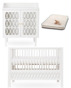 Combo mobilier naissance harlequin CamCam | Blanc