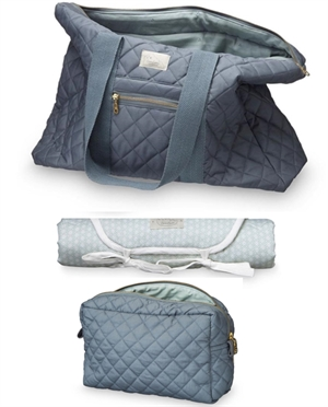 Set grand sac  + Trousse + Tapis CamCam | Gris charcoal