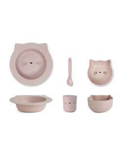 Set premier repas Barbara de Liewood | Chat rose