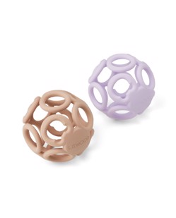 Lot de 2 balles d'éveil en silicone Jasmin Liewood | Light lavender rose mix