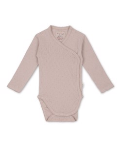 Body croisé en coton bio Minnie Konges Sløjd | Rose Grey | Manipani vêtements bébé scandinaves