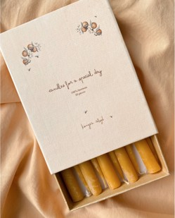 Pack de 20 bougies pour train d'anniversaire Konges Sløjd | Naturel | Manipani boutique traditions scandinaves