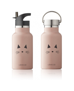 Gourde en inox Anker 350 ml Liewood | Chat rose