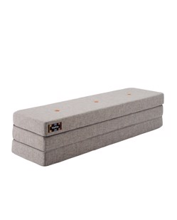 Matelas pliable multi-fonctions 3F KlipKlap 3en1 | Gris bouton orange