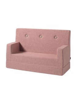 Sofa lounge 2 en 1 enfant KlipKlap | Rose