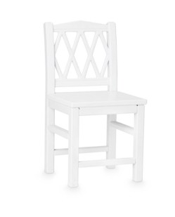 Chaise enfant harlequin Camcam | Blanc
