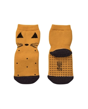 Chaussettes anti-dérapantes Liewood | Chat moutarde