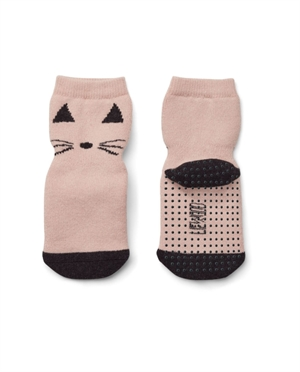 Chaussettes anti-dérapantes Liewood | Chat rose