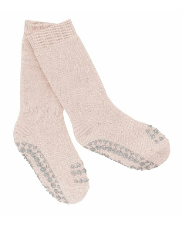 Chaussettes antidérapantes GoBabyGo | Rose clair