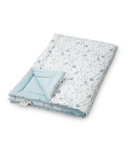 Couverture duvet coton bio CamCam | Leaves bleu