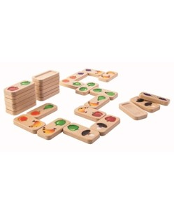 Dominos en bois ecolo Plantoys Fruits et legumes ManiPani