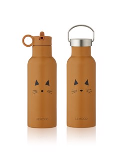 Gourde isotherme enfant Neo 500 ml Liewood | Chat moutarde Manipani
