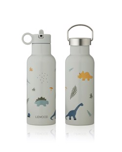 Gourde isotherme enfant Neo 500 ml Liewood | Dino dove blue mix Manipani