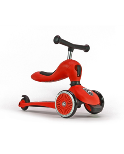 Trottinette 2 en 1 Scoot and Ride | Rouge