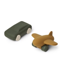Lot de 2 jouets en silicone Kevin Liewood | Hunter green/olive green mix | Manipani boutique bébé design scandinave