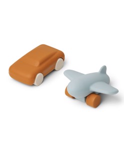 Lot de 2 jouets en silicone Kevin Liewood | moutarde/sea blue mix | Manipani magasin selection jouets scandinaves design