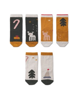 Lot de 3 paires de chaussettes bébé Silas Liewood Holiday Hunter Green multi mix noël manipani