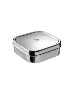 Lunch box durable en inox Pulito Carrée écologique manipani