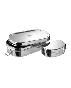 Lunch box durable en inox Pulito Ovale écologique manipani