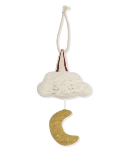 Mobile musical Konges Sløjd | Moon & star - Manipani boutique bébé scandinave