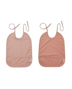Pack de 2 bavoirs longs imperméables Liewood | Rose mix