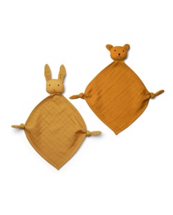 Pack 2 doudou lange Yoko de Liewood | Yellow mix