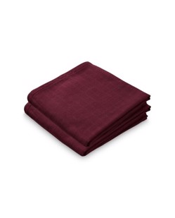 Pack de 2 langes coton CamCam | Bordeaux
