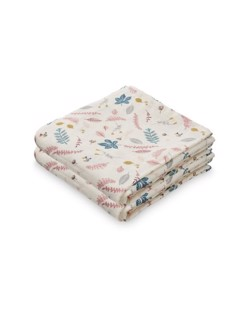 Pack de 2 langes coton CamCam | Leaves rose