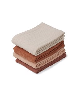 Pack de 4 langes Léon coton bio Liewood | Rose mix