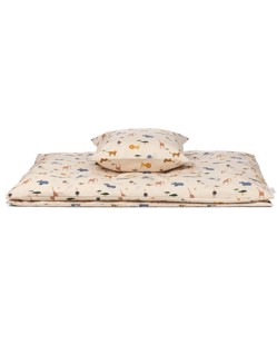 Parure de lit enfant en coton bio de Liewood | Safari sandy mix | Manipani boutique enfant design