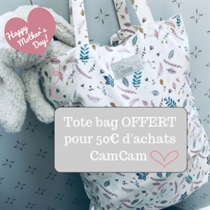 "Sac ""tote bag"" en coton bio de Camcam 