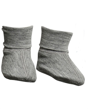 Chaussons laine Merino WHEAT | Gris