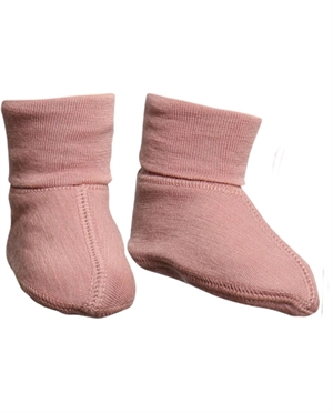 Chaussons laine Merino WHEAT | Rose poudré
