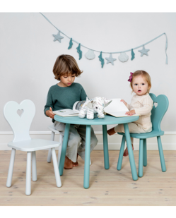 Set table + 2 chaises enfant de CamCam  | Coeur
