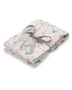 Maxi Lange coton bio CamCam | Leaves rose
