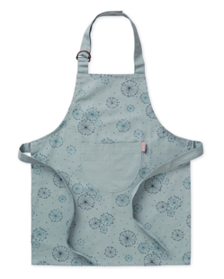 Tablier de chef junior 100% coton bio de Camcam | Dandelion bleu pétrole