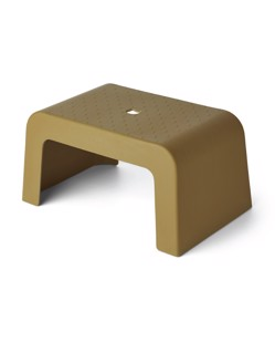 tabouret marchepied enfant antiderapant vert olive Liewood Manipani