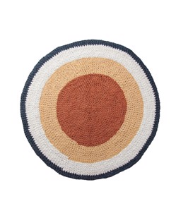 Tapis rond en crochet Sebra | Golden hour jaune | Manipani boutique décoration scandinave