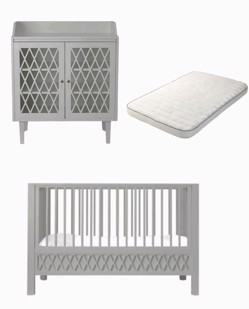 Combo mobilier naissance Harlequin CamCam | Gris
